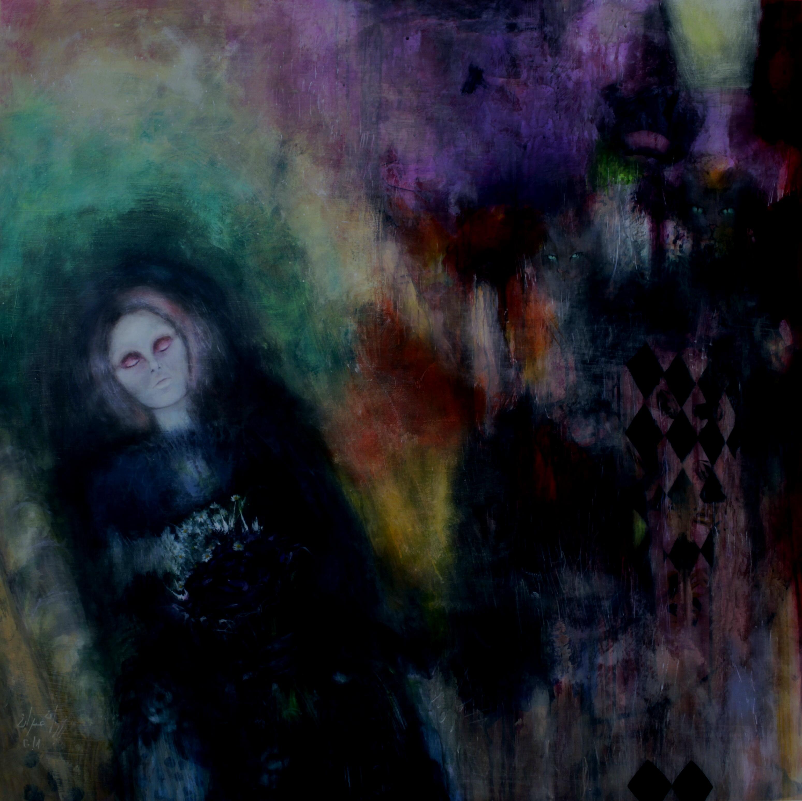 """""""تينا عمران"""" فنانة تشكيلية متخصصة برسم الرعب والخيالات"""