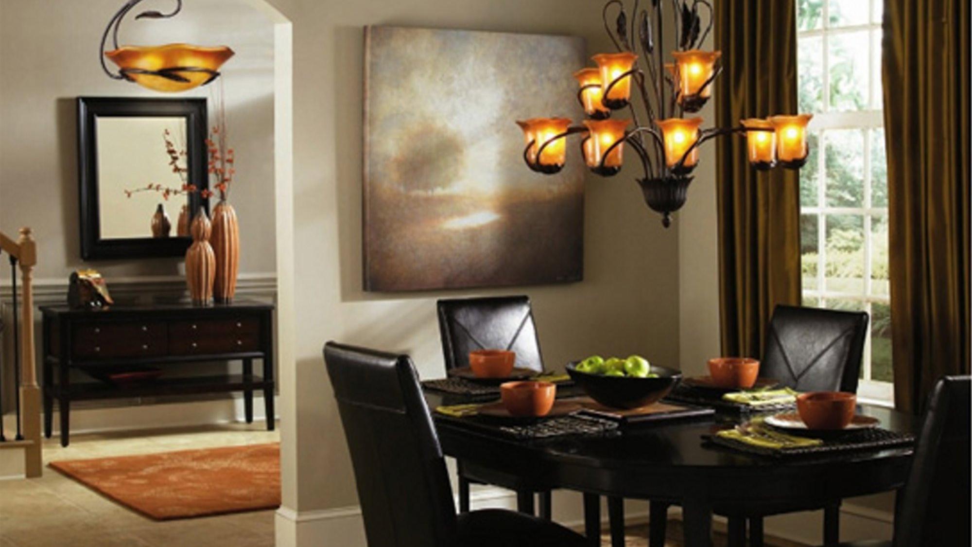 اضاءة غرفة السفرة في المنزل