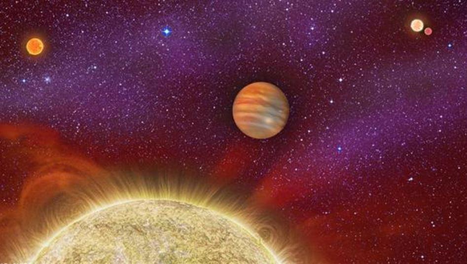 العلماء يكتشفون كوكب غازي عملاق له ثلاث شموس
