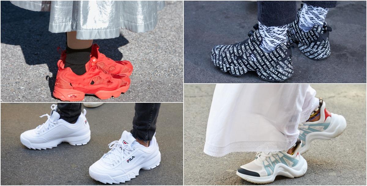 الأحذية الرياضية المكتنزة