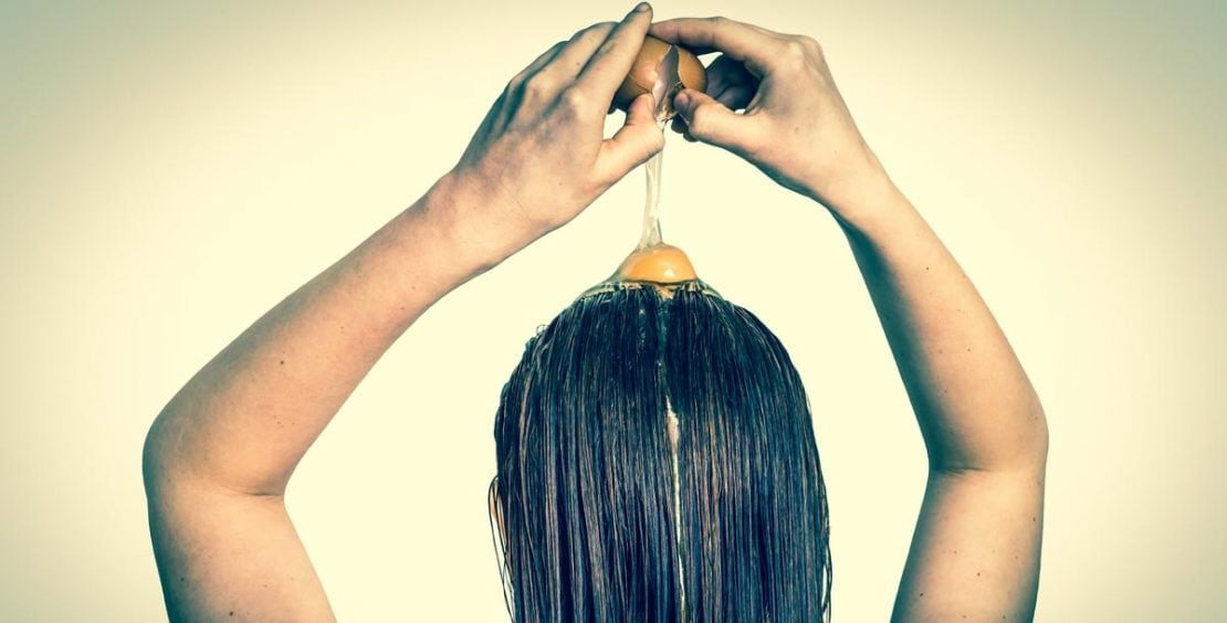 البيض لمنع تساقط الشعر