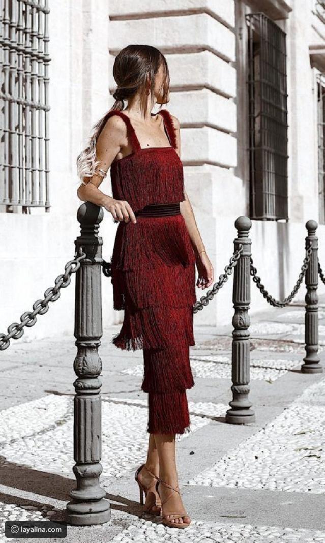 الفساتين ذات الشراشيب