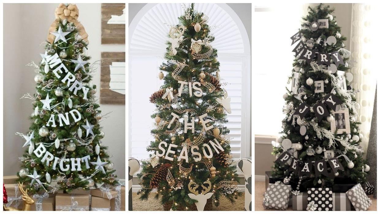 الحروف لتزيين شجرة الكريسماس