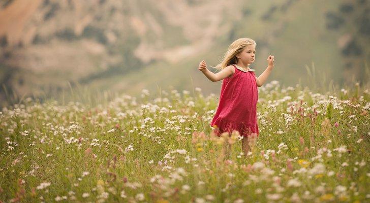 أطفال في الطبيعة