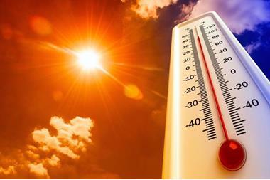 درجة حرارة قياسية