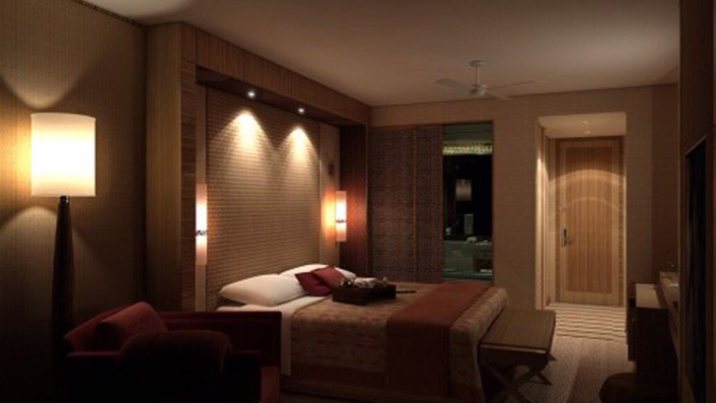 إضاءة غرفة النوم