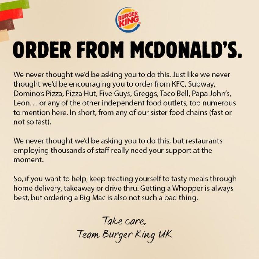في بادرة غير مسبوقة بيرغر كينغ تحث زبائنها على شراء ماكدونالدز-1