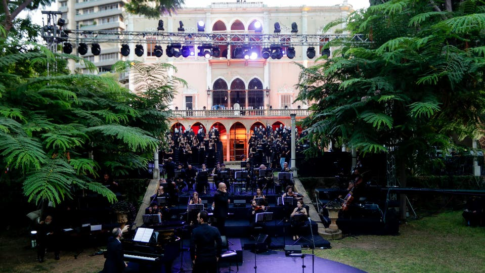 قصر دمره انفجار مرفأ بيروت يستضيف حفلة موسيقية تحية لأرواح ضحايا انفجار بيروت 3