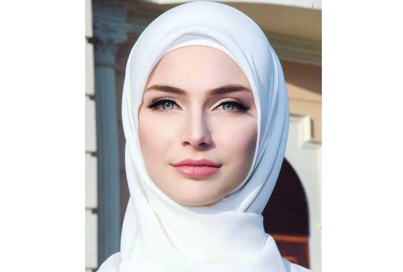 لفات طرح للوجه المربع بطريقة الحجاب الكويتي