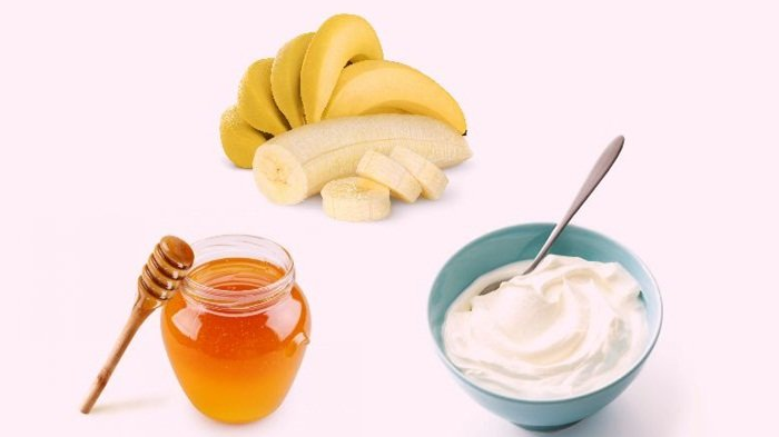 ماسك الموز والزبادي والعسل
