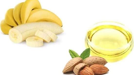 ماسك الموز وزيت اللوز للبشرة