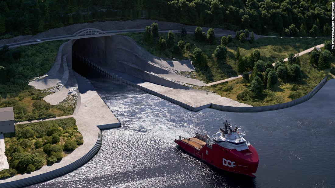 تحت الجبال ..النرويج تبني أول نفق للسفن في العالم-1
