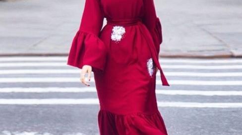 طرق تنسيق الحجاب مع الفستان لإطلالة مثالية2